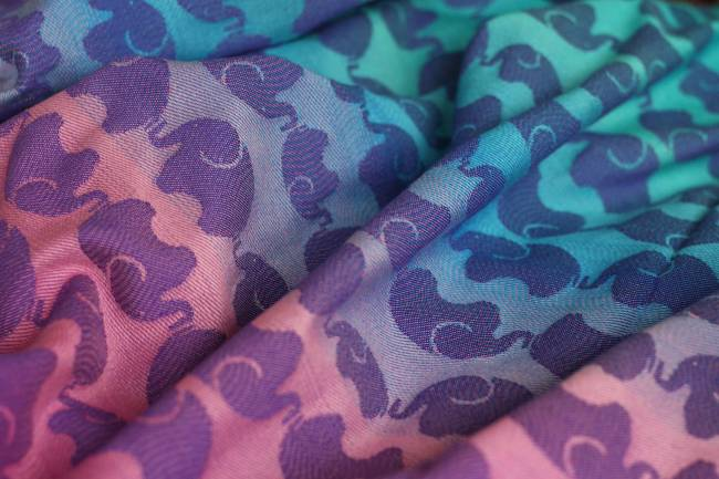 Yaro Elephants Spring Sunrise Grad Violet Wool