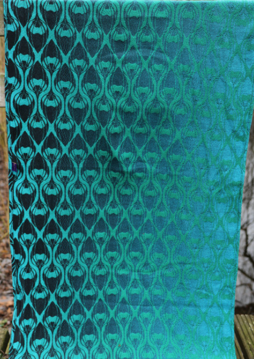 Ringsling Yaro La Fleur Duo Black Green Blue Meta
