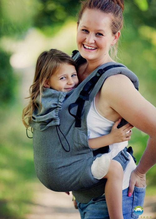 Little Frog XL Toddler Carrier Graphite Herringbone