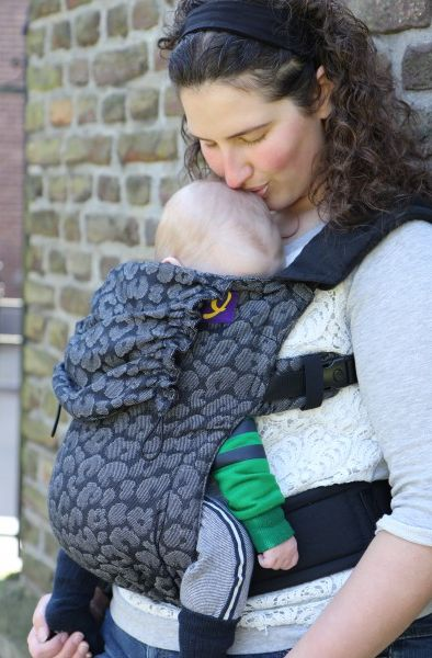 Yaro Flex Baby Carrier Pussycat Black Grey