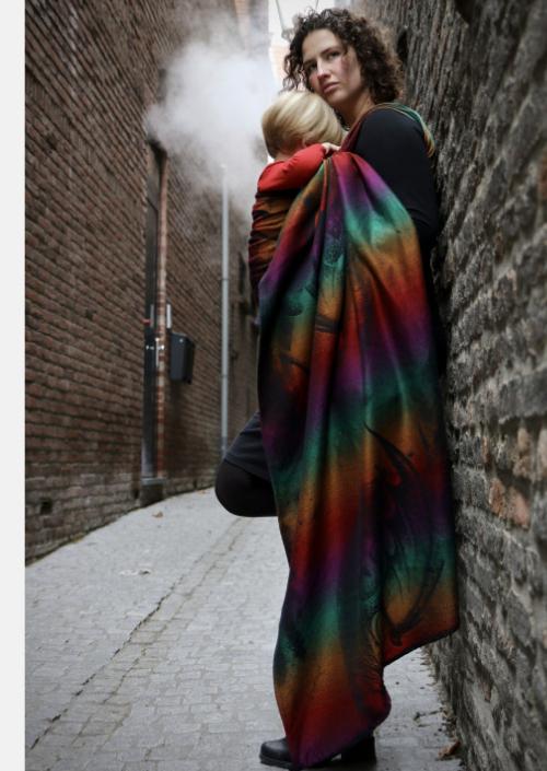 Ringsling Yaro Moonkeeper Dreams Rainbow Wool