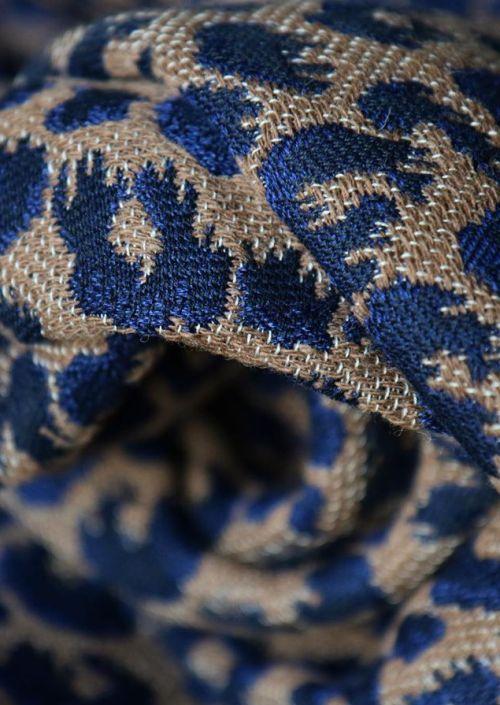 Ringsling Yaro Pussycat Puffy Mocca Dark-Blue Wool Baby Camel
