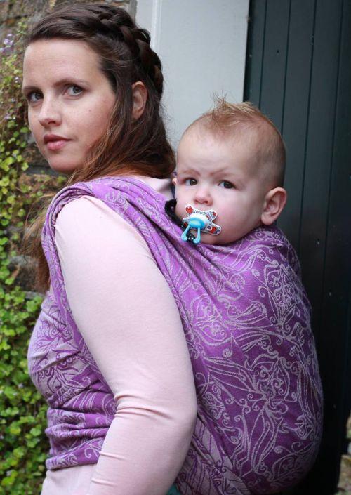 Ringsling Yaro Elvish Purple Natural Tussah