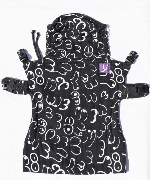 Yaro Flex Baby Carrier Boobs Contra Black White
