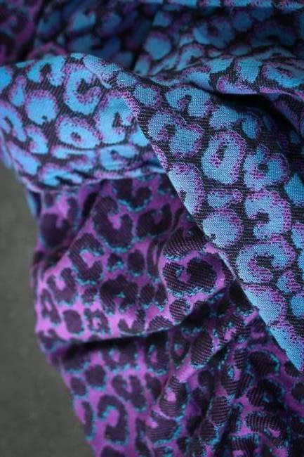 Yaro Pussycat Duo Purple Black Turkis Tencel