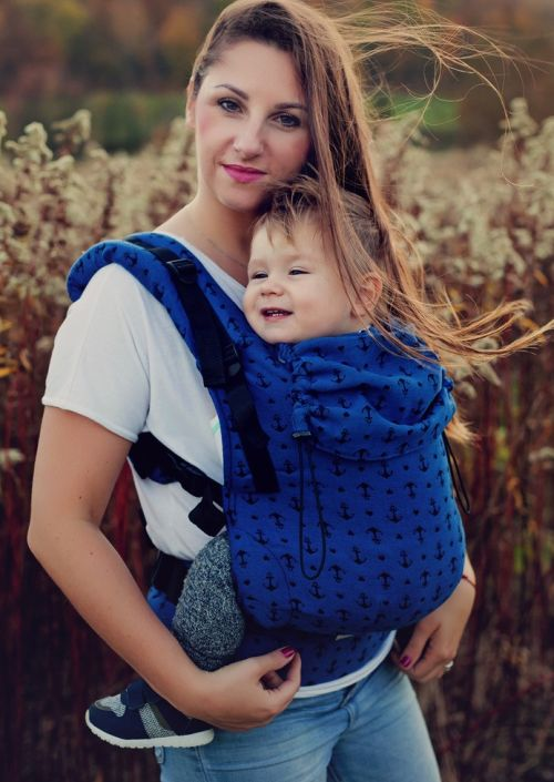 Little Frog Toddler Carrier Navy  Anchors