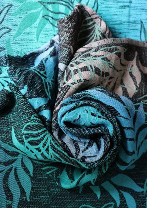 Yaro Oasis Duo Aqua Grad Emerald Navy Wool