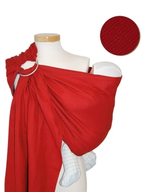 Ringsling Storchenwiege Leo Rouge