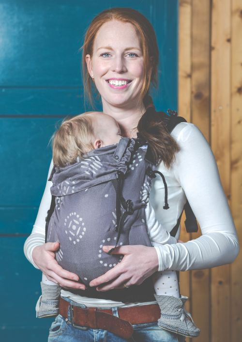 Pure Baby Love Baby Carrier Happiness Grijs