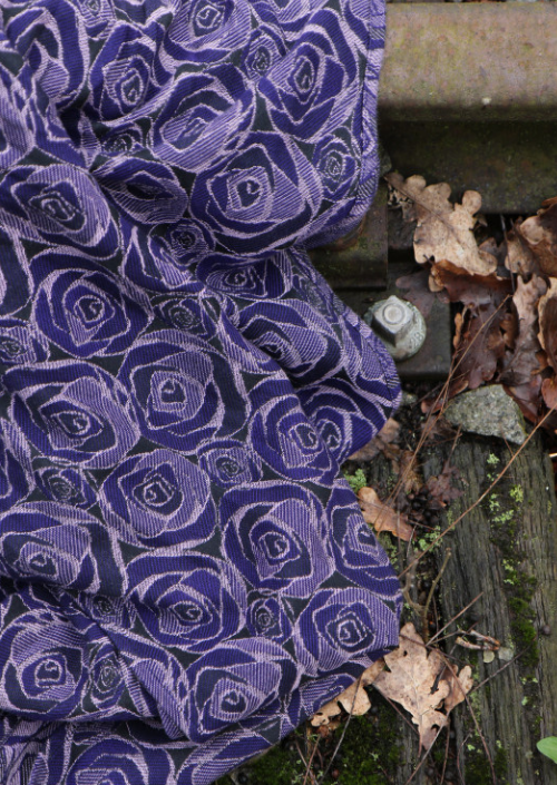 Ringsling Yaro Roses Duo Violet Lilac Tencel Seacell