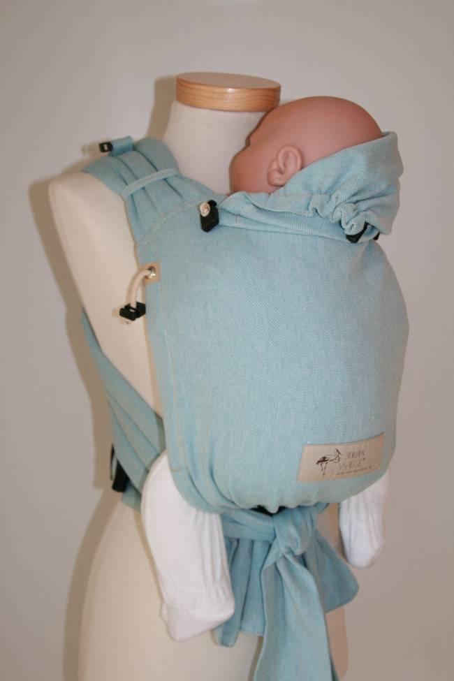 Storchenwiege Babycarrier Aqua