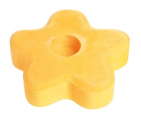Grimm's stekerhouder bloem geel klein