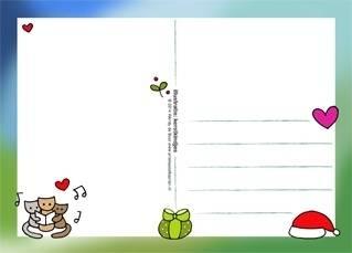 Postkaart Kerstkindjes