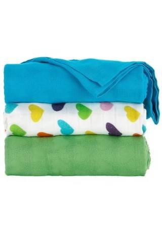 Tula Blanket Set Rainbow Hearts Oliver