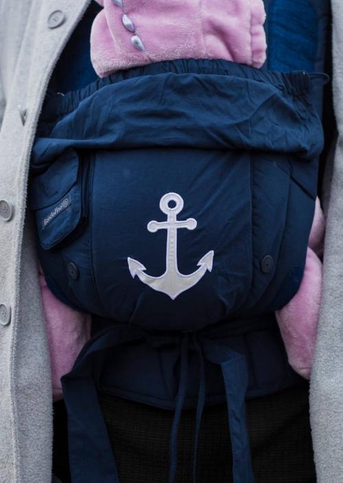 *LAATSTE* Bondolino Poplin Marine-Anchor