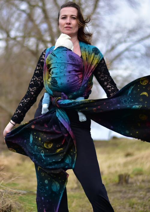 Yaro Cosmos Nebula Black Rainbow Linen Hemp