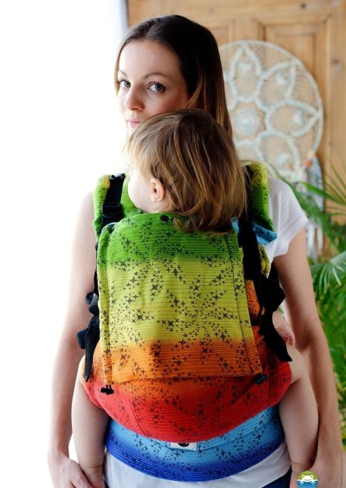Little Frog Toddler Carrier Black Arcoiris