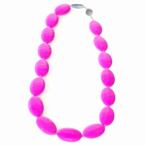 Itzy Ritzy Ketting Pebble Hot Pink