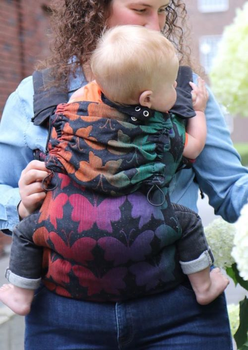 Yaro Flex Baby Carrier Butterflies Contra Black Rainbow Confetti