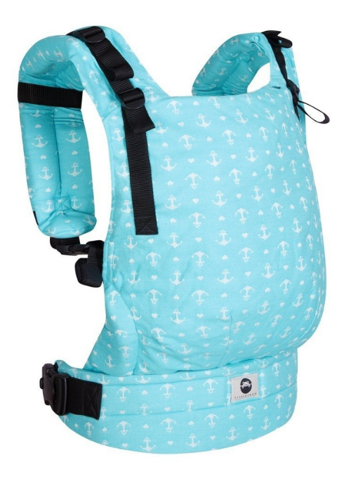 Little Frog Toddler Carrier Turquoise Anchors