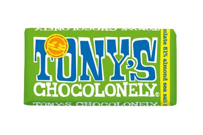 Tonys Chocolonely puur amandel zeezout