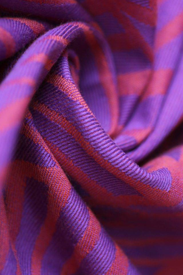 Yaro Dandy Violet Orange Wool