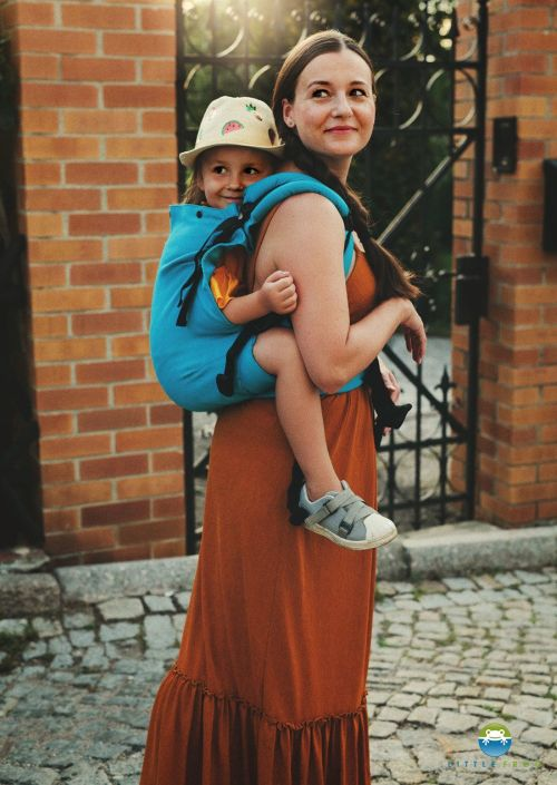 Little Frog XL Toddler Carrier Petrol Herringbone