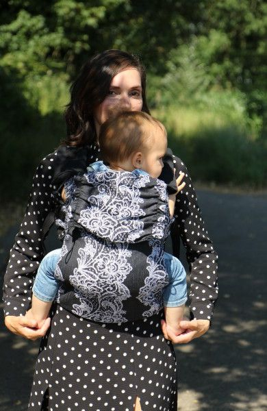 Yaro Flex Baby Carrier Jazz Duo Black White Linen Kapok