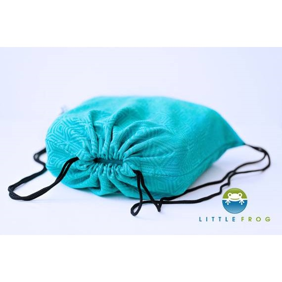 Carrier bag Little Frog Turquoise Cube