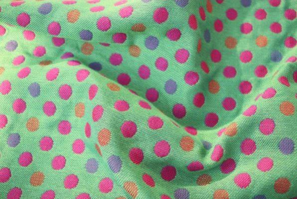 Yaro Polka Dot Ultra Purple Green Tencel Modal