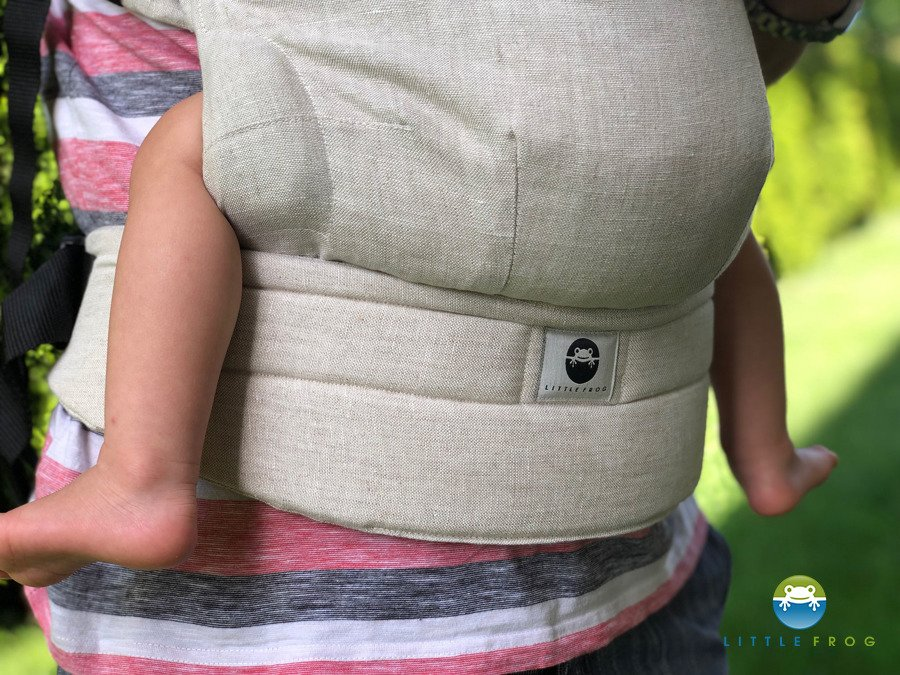 Little Frog Baby Carrier Pure Linen OatMeal