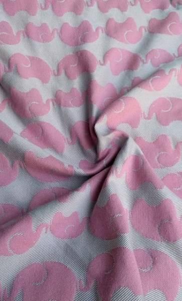 Yaro Elephants Silver Pink Wool