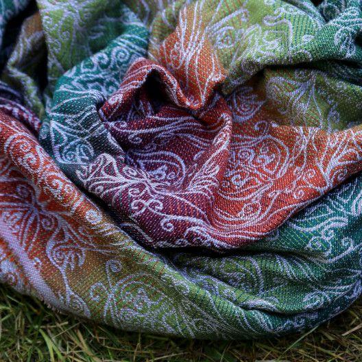Ringsling Yaro Elvish Trinity Tawny Rainbow Wool