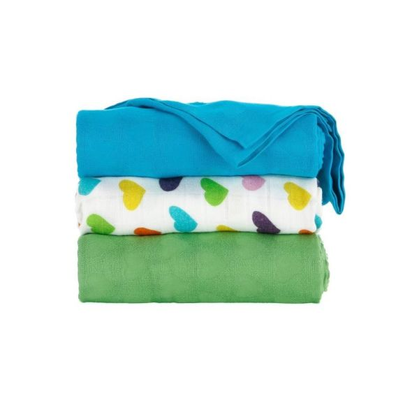 Tula Blanket Set Rainbow Hearts Olive