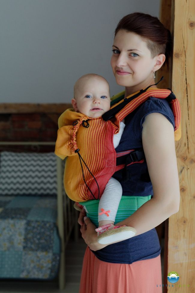 Little Frog Baby Carrier Linen Ammolite