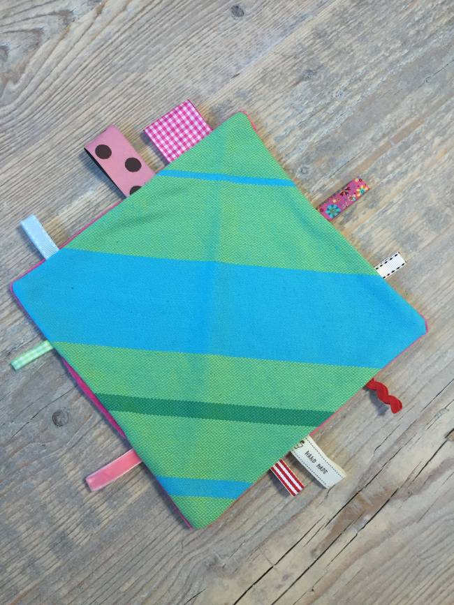 Labeldoekje Little Frog Turquoise