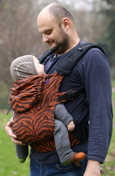 Yaro Flex Baby Carrier Tiger Black Ora	nge