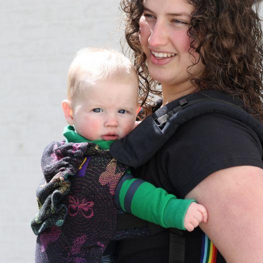 Yaro Flex Baby Carrier Woodland Duo Black Lights Rainbow