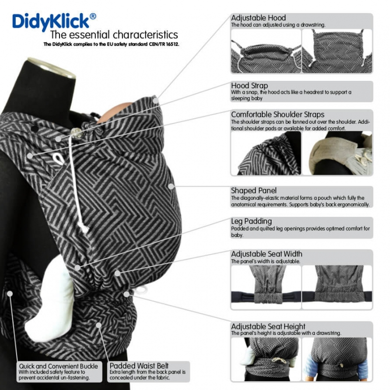 Didymos DidyKlick Metro Monochrome