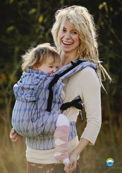 Little Frog XL Toddler Carrier Blue Pines