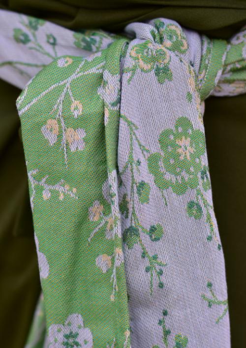 Ringsling Yaro Flowersnake Trinity Yellow Green Tencel