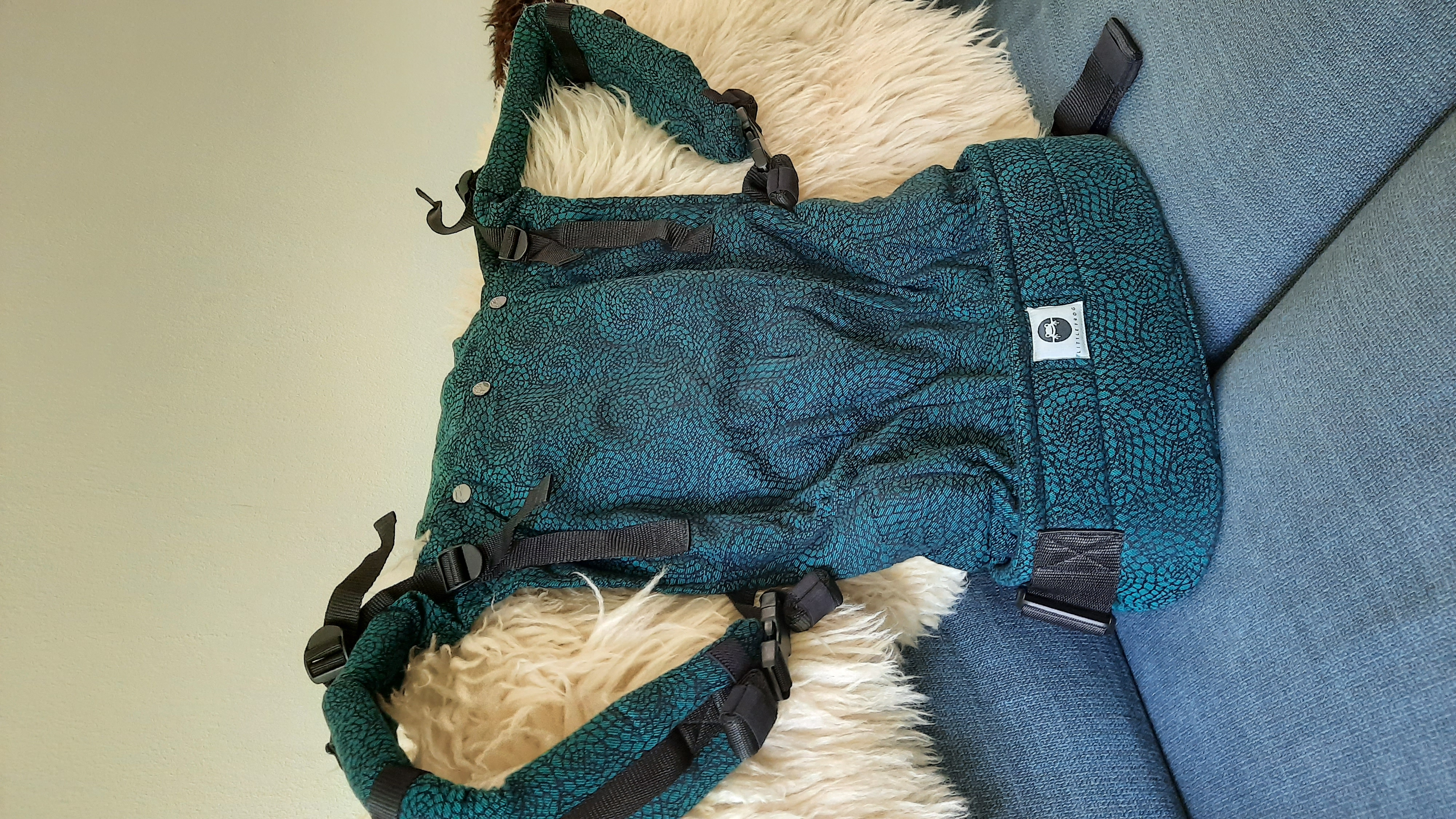 Little Frog Toddler Carrier Emerald Ammonites