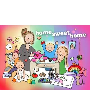 Postkaart Home Sweet Home