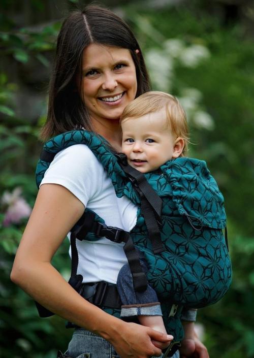 Little Frog Toddler Carrier Emerald Edelweiss