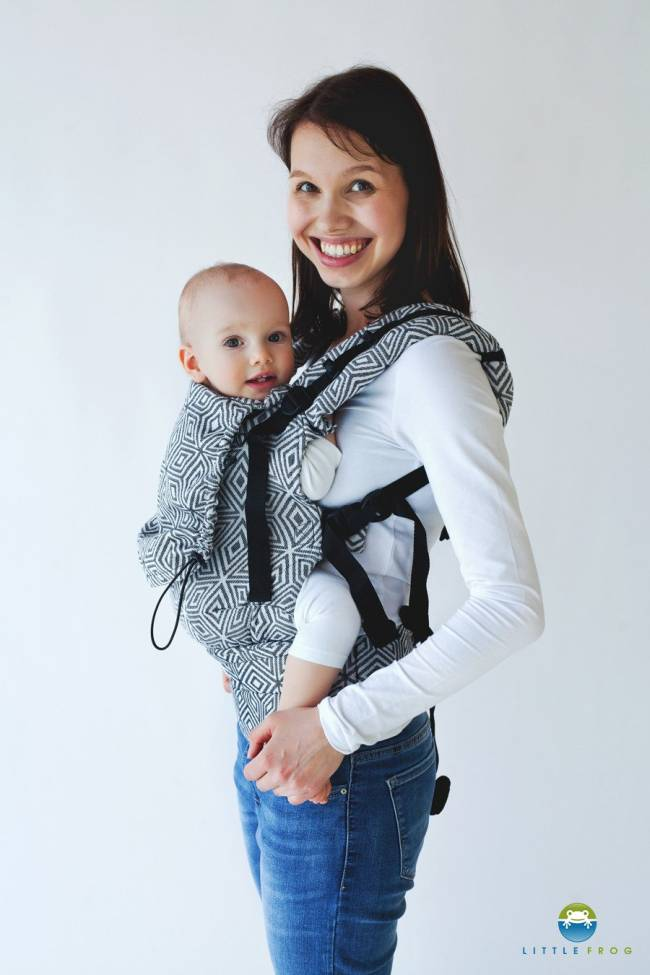 Little Frog XL Toddler Carrier Black Cube