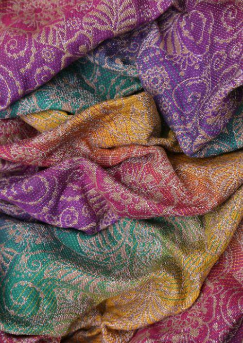 Ringsling Yaro Ava Trinity Sienna Rainbow Wool