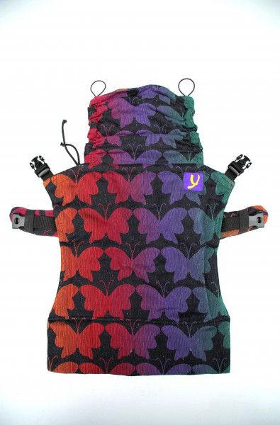 Yaro Flex Toddler Carrier Butterflies Contra Black Rainbow Confetti