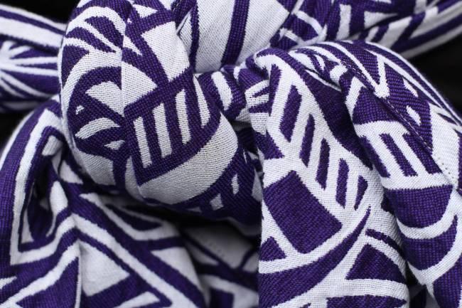 Yaro Geo Contra Violet Wool