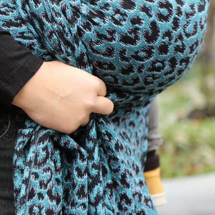 Ringsling Yaro Pussycat Trinity Black Petrol Wool