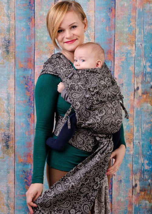 Neko Half Buckle Baby Efes Paisley Hazel Dark